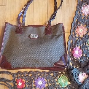 Brighton tote micco ny crochet scarf anthropologie